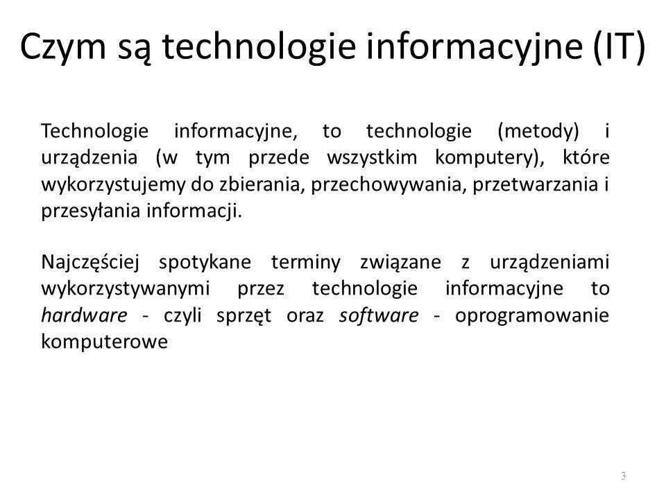 Typy komputerów Serwer - określa komputer z zainstalowanym sieciowym systemem operacyjnym, świadczący usługi innym komputerom, np.