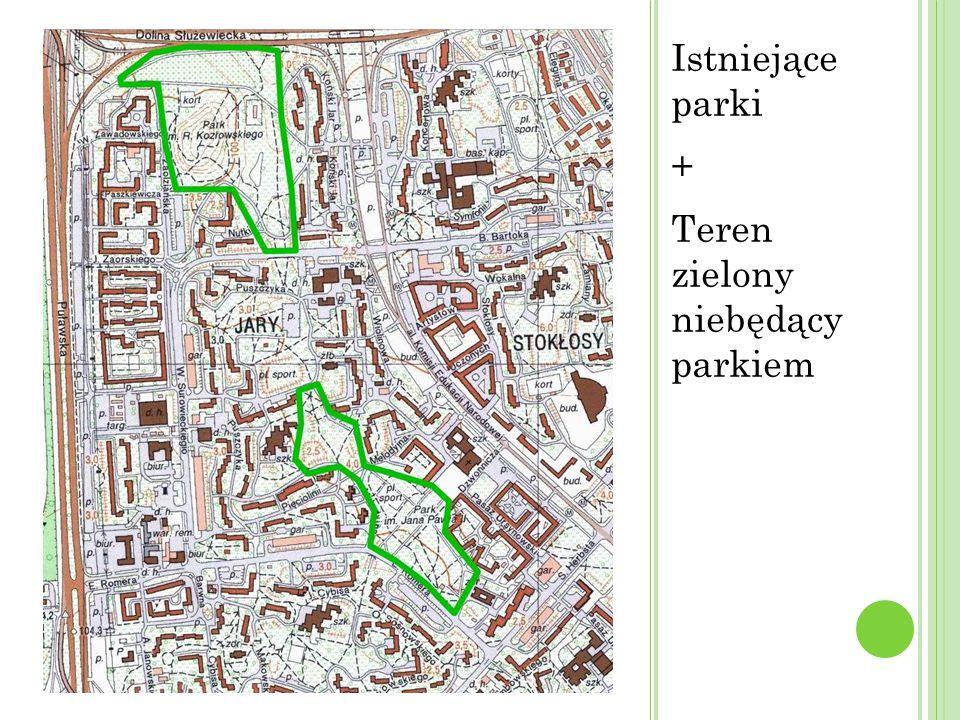 + Teren zielony niebędący parkiem