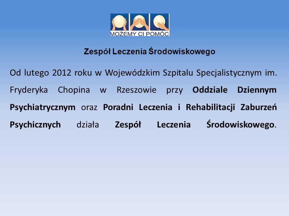Od lutego 2012 roku w Wojewódzkim Szpitalu Specjalistycznym im. Fryderyka Chopina w Rzeszowie przy Oddziale Dziennym Psychiatrycznym oraz Poradni Lecz