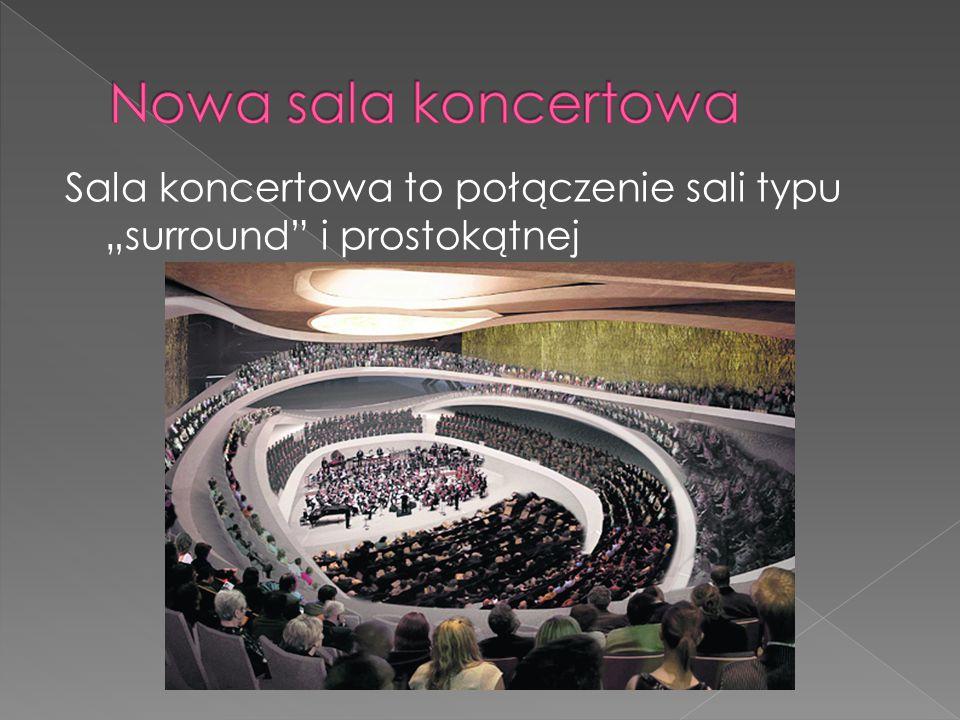 """Sala koncertowa to połączenie sali typu """"surround i prostokątnej"""