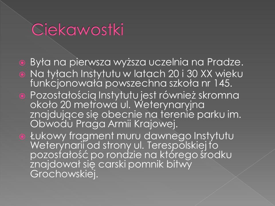 BByła na pierwsza wyższa uczelnia na Pradze.