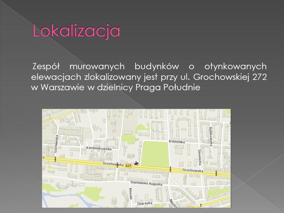 Powstał on poza ówczesnymi granicami miasta na terenie wsi Grochów w bezpośrednim sąsiedztwie funkcjonującego od początku XIX wieku do lat 60 XX wieku największego praskiego targu koni i bydła.
