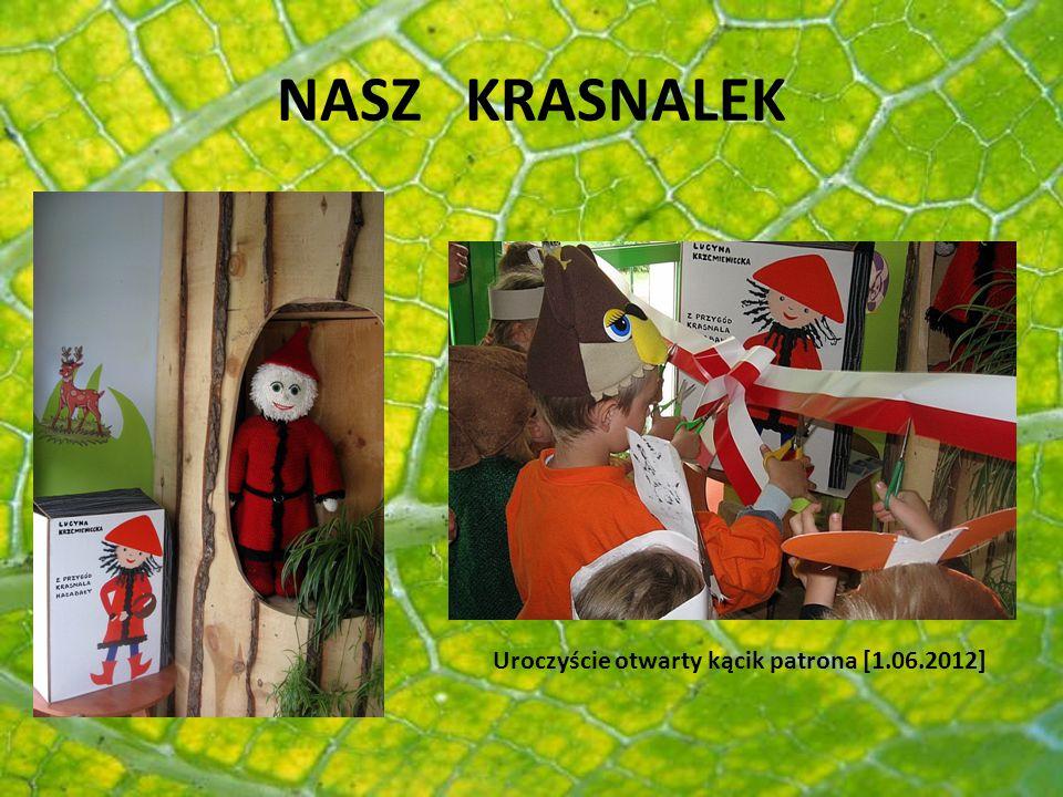 PRZEDSZKOLACY KRASNALA HAŁABAŁY W parku, pośród drzew stoi domek murowany, wszystkim mieszkańcom Kaźmierza bardzo dobrze znany.
