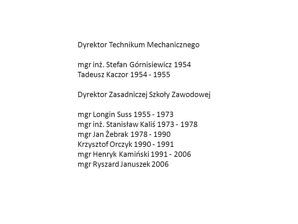 inż. Aleksiej Jakowlew Iwan Jegorow 1899 – 1916 inż. Stanisław Bac 1916 - 1924 inż. Kazimierz Kamiński 1924 - 1928 Ignacy Kowalski 1928 - 1929 inż. Wł