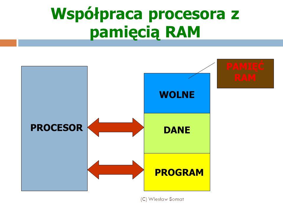 Podstawowymi parametrami wpływającymi na wydajność procesora (szybkość wykonywania operacji przez procesor) są: Szybkość – (częstotliwość taktowania) określana częstotliwością zegara ( mierzona w MHz) Wielkość magistrali danych (liczba przesyłanych jednocześnie bitów), (8, 16, 32, 64 bity) Częstotliwość taktowania magistrali danych (Szybkość przekazywania danych do urządzeń wejściowych i wyjściowych) Wielkość pamięci CACHE pierwszego poziomu (L1) i drugiego poziomu (L2) Wewnętrzna konstrukcja oraz lista rozpoznawanych i wykonywanych instrukcji elementarnych Parametry charakteryzujące procesor