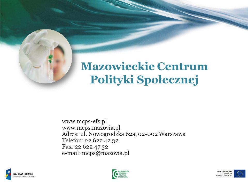 www.mcps-efs.pl www.mcps.mazovia.pl Adres: ul.