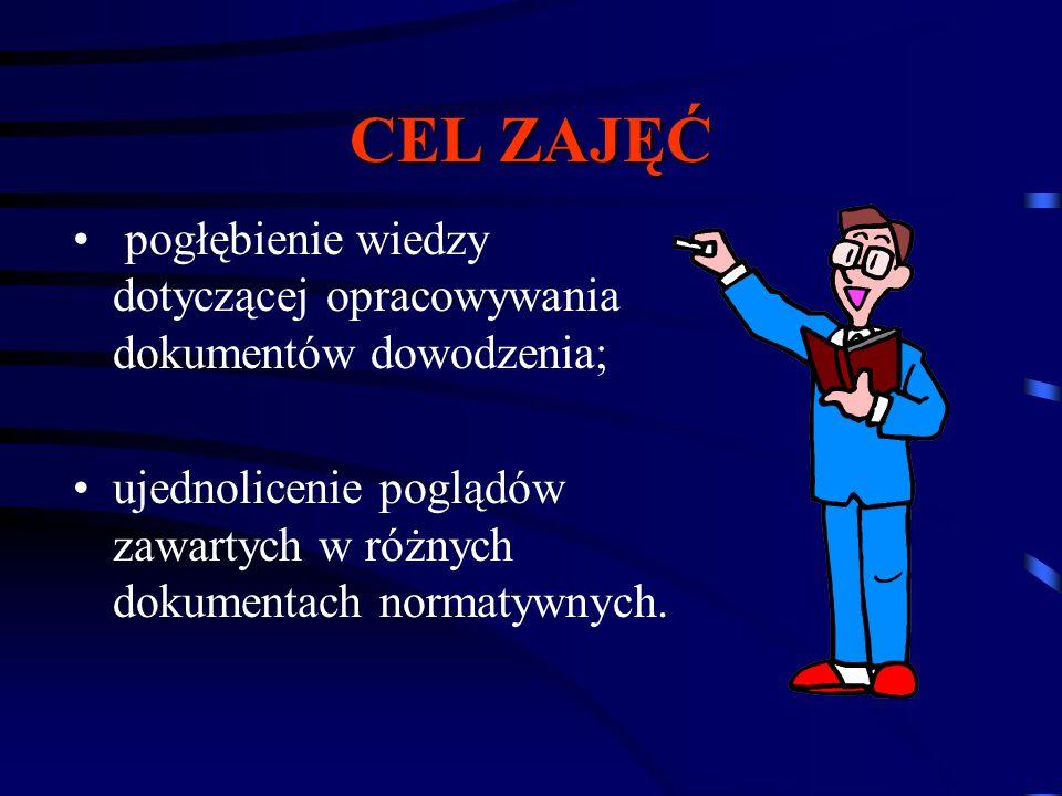 ZAGADNIENIA SZKOLENIOWE 1.Podział dokumentów dowodzenia 2.