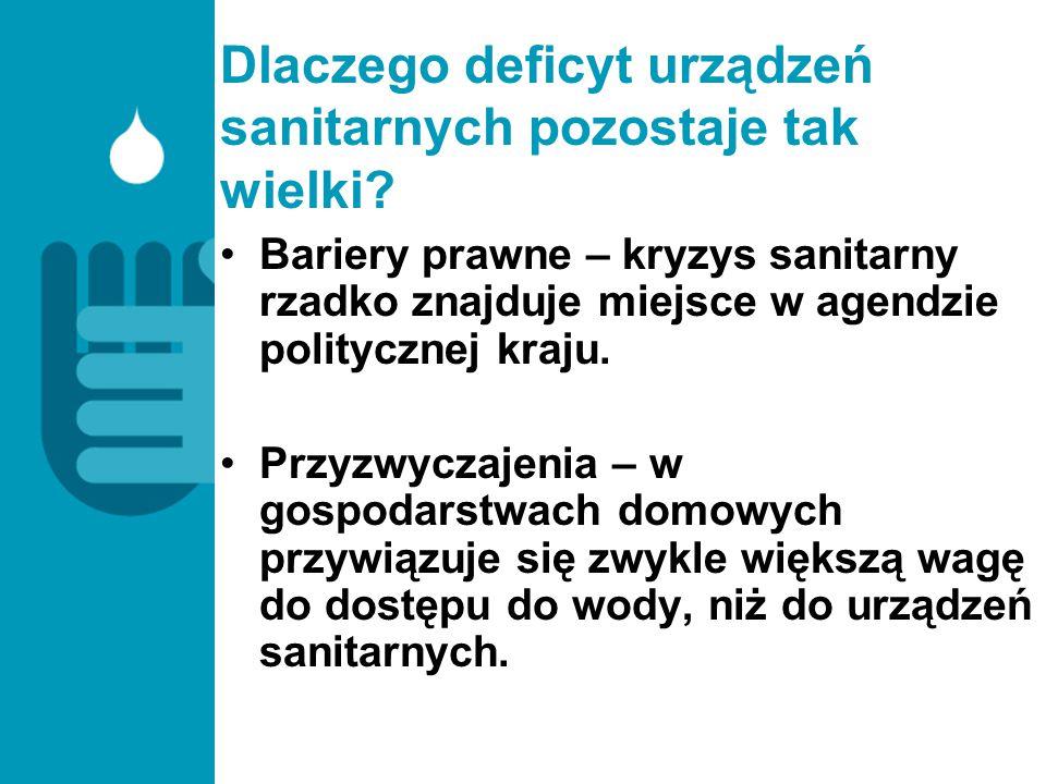 Dlaczego deficyt urządzeń sanitarnych pozostaje tak wielki? Bariery prawne – kryzys sanitarny rzadko znajduje miejsce w agendzie politycznej kraju. Pr