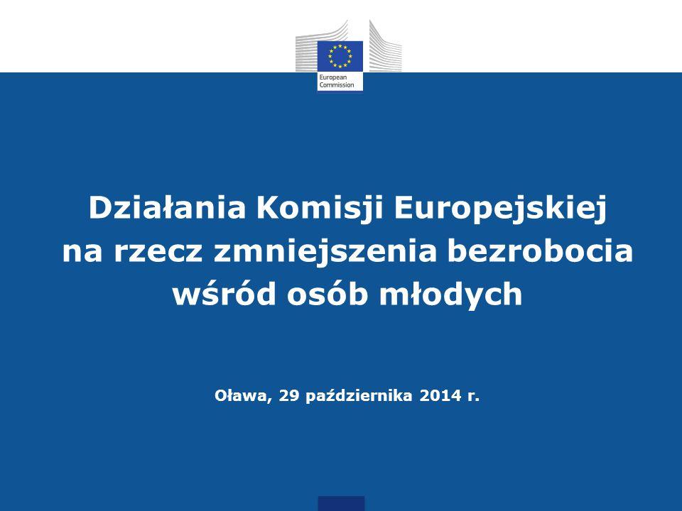 Działania Komisji Europejskiej na rzecz zmniejszenia bezrobocia wśród osób młodych Oława, 29 października 2014 r.