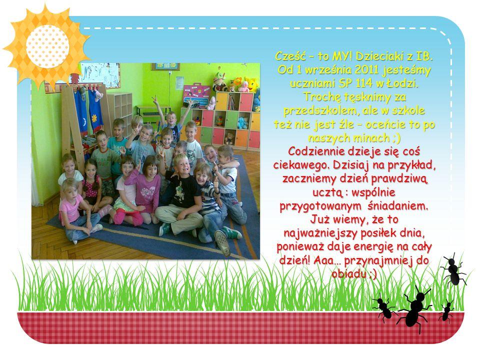 Cześć – to MY. Dzieciaki z IB. Od 1 września 2011 jesteśmy uczniami SP 114 w Łodzi.