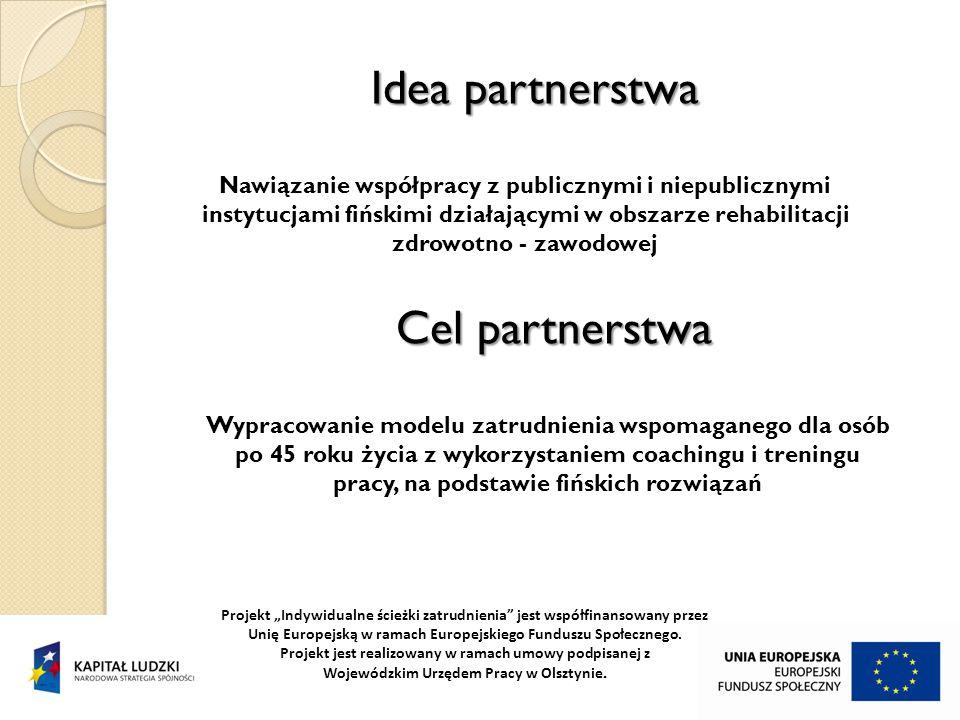 """Idea partnerstwa Projekt """"Indywidualne ścieżki zatrudnienia jest współfinansowany przez Unię Europejską w ramach Europejskiego Funduszu Społecznego."""
