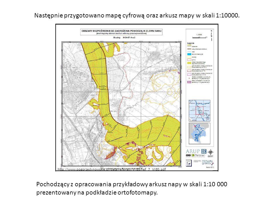 Następnie przygotowano mapę cyfrową oraz arkusz mapy w skali 1:10000. http://www.pogorzedynowskie.pl/data/referaty/VIIBS/ref_7_VIIBS.pdf Pochodzący z