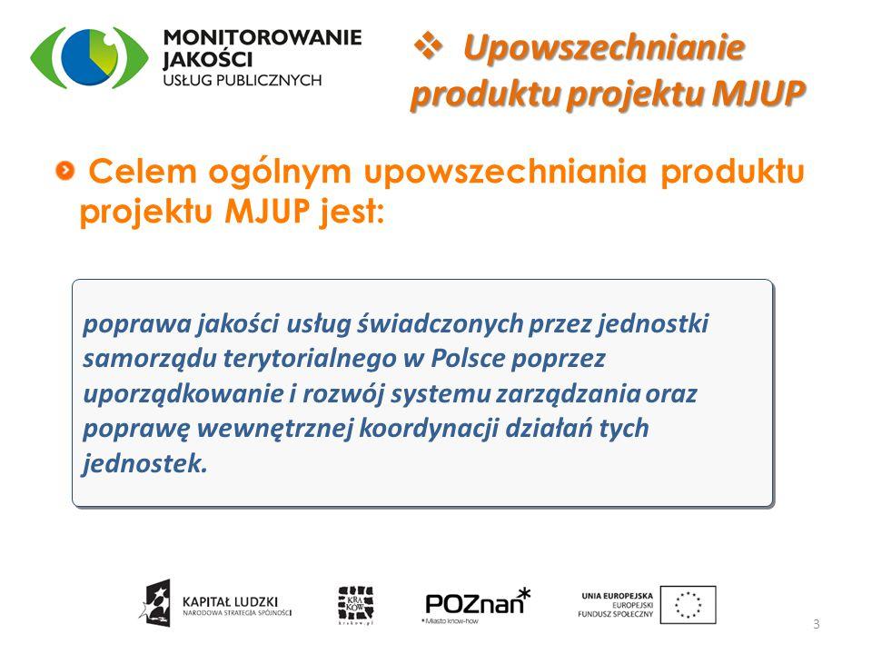 poprawa jakości usług świadczonych przez jednostki samorządu terytorialnego w Polsce poprzez uporządkowanie i rozwój systemu zarządzania oraz poprawę wewnętrznej koordynacji działań tych jednostek.