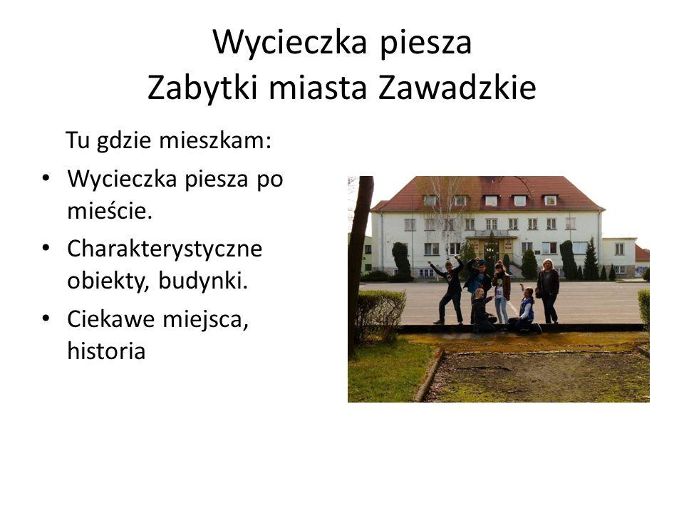 Wycieczka piesza Zabytki miasta Zawadzkie Tu gdzie mieszkam: Wycieczka piesza po mieście.