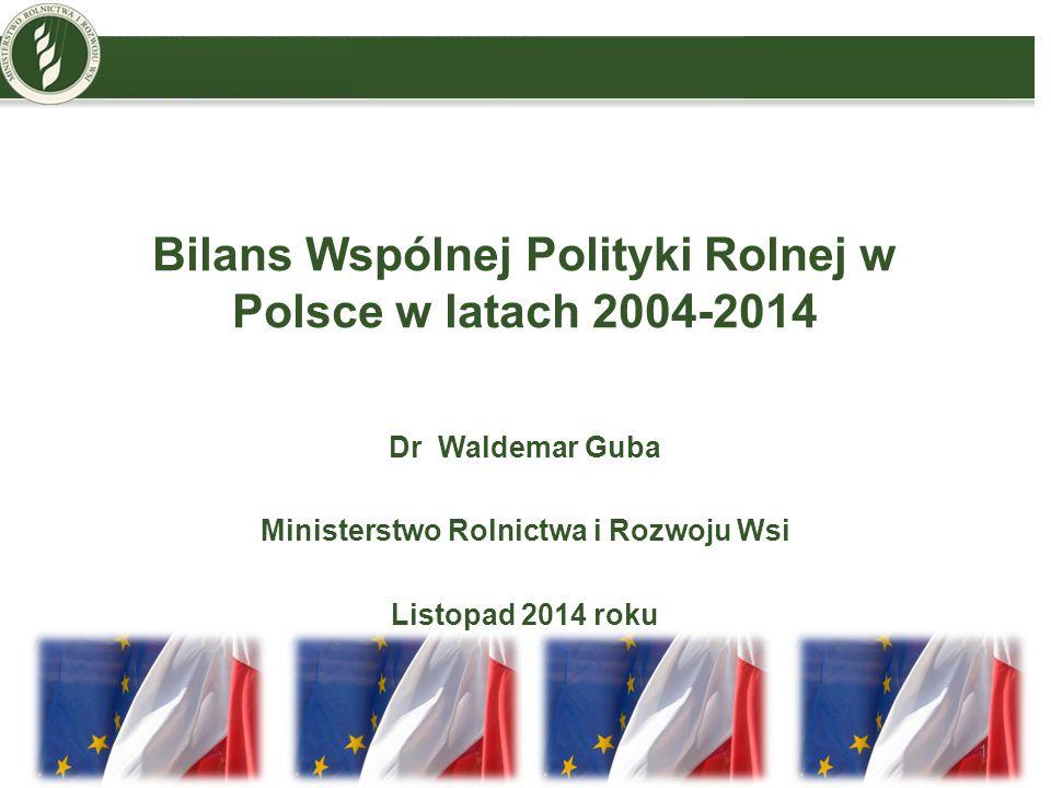 O czym warto pamiętać Długie przygotowania przedakcesyjne Obawy, mity, stereotypy przez akcesją Stopniowe wdrożenie płatności bezpośrednich Modernizacja i restrukturyzacja - priorytetowe kierunki Polska wprowadzała WPR po jej zasadniczych reformach w 2003 r.