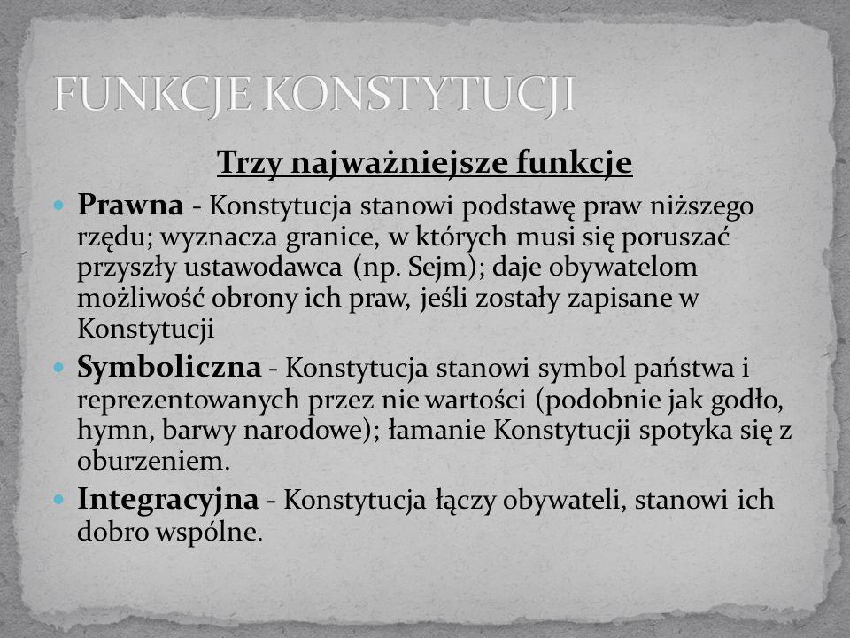 Uchwalona przez Sejm po odzyskaniu niepodległości, z założenia tymczasowa; wprowadzała ustrój parlamentarno- komitetowy i funkcję Naczelnika Państwa (miał wykonywać wolę Sejmu, nie miał kompetencji ustawodawczych ani prawa rozwiązywania parlamentu).