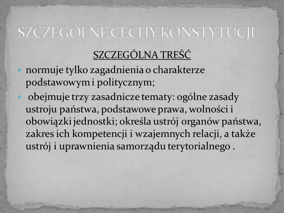 Wzorowana na konstytucji radzieckiej z 1936 roku; bez trójpodziału władzy — najwyższą władzą jest Sejm; z prawa wyborczego wykreślono zasadę proporcjonalności; zamiast urzędu Prezydenta kolegialna Rada Państwa; nowa nazwa państwa — Polska Rzeczpospolita Ludowa (PRL); proklamowanie licznych praw socjalnych; w praktyce rządy były totalitarne.