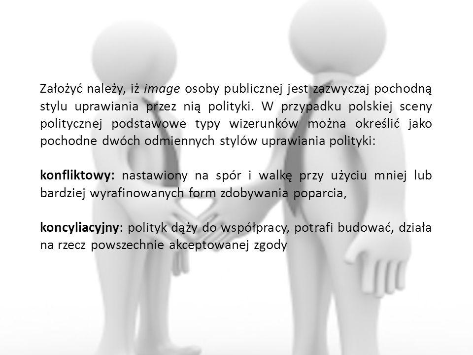 Założyć należy, iż image osoby publicznej jest zazwyczaj pochodną stylu uprawiania przez nią polityki. W przypadku polskiej sceny politycznej podstawo