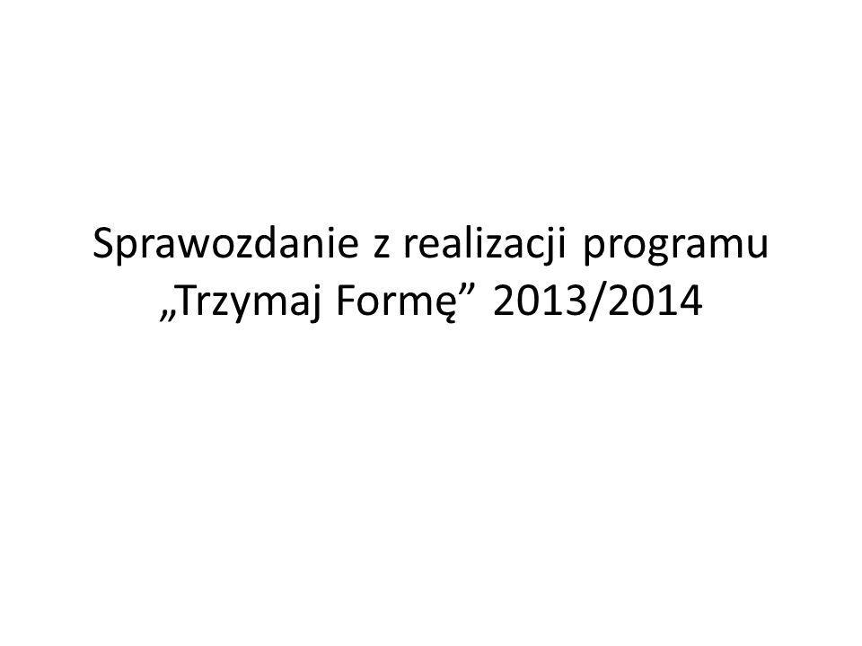 """Sprawozdanie z realizacji programu """"Trzymaj Formę"""" 2013/2014"""