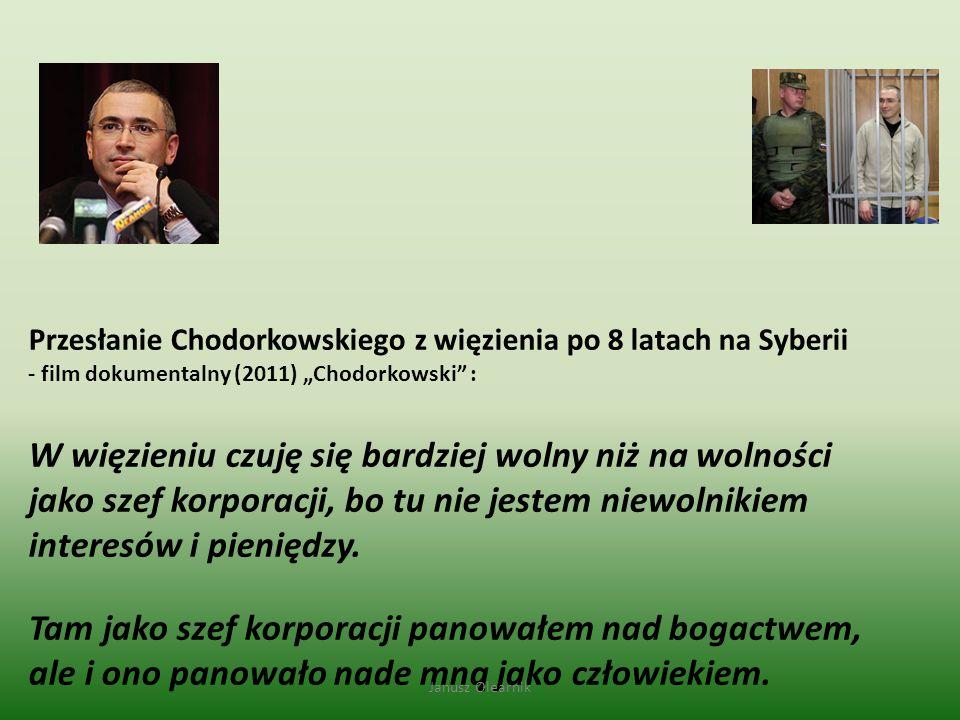 """Przesłanie Chodorkowskiego z więzienia po 8 latach na Syberii - film dokumentalny (2011) """"Chodorkowski"""" : W więzieniu czuję się bardziej wolny niż na"""