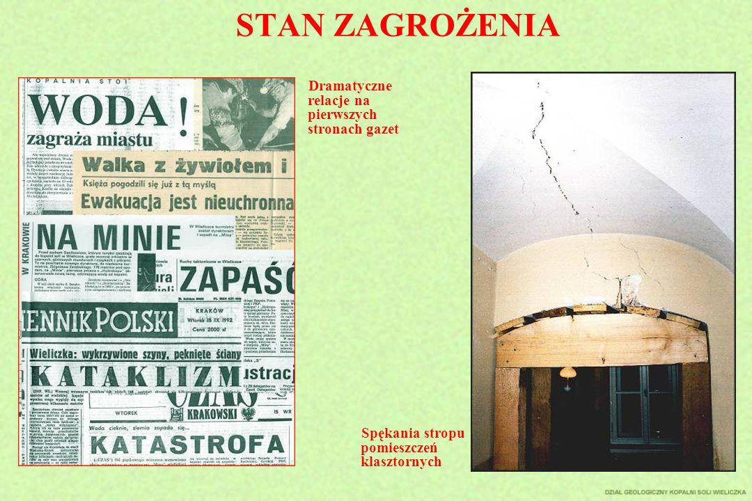 STAN ZAGROŻENIA Spękania stropu pomieszczeń klasztornych Dramatyczne relacje na pierwszych stronach gazet