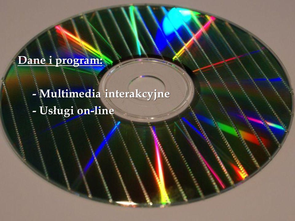 Dane i program: - Multimedia interakcyjne - Usługi on-line