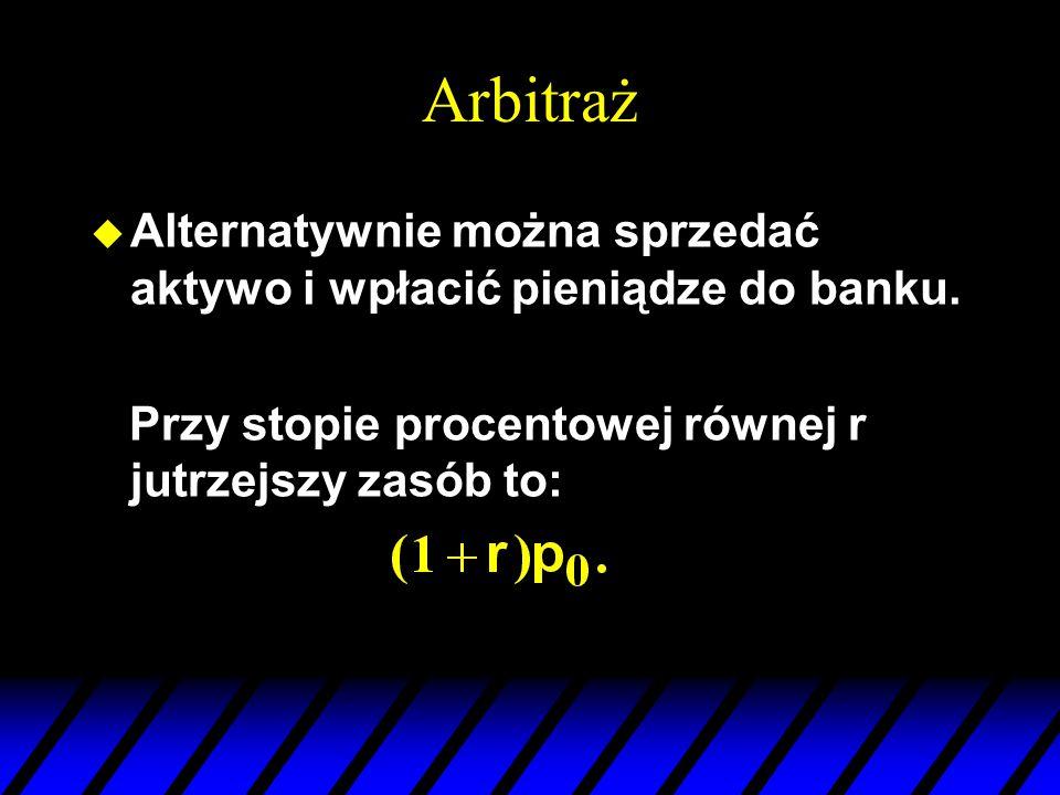 Arbitraż u Alternatywnie można sprzedać aktywo i wpłacić pieniądze do banku.