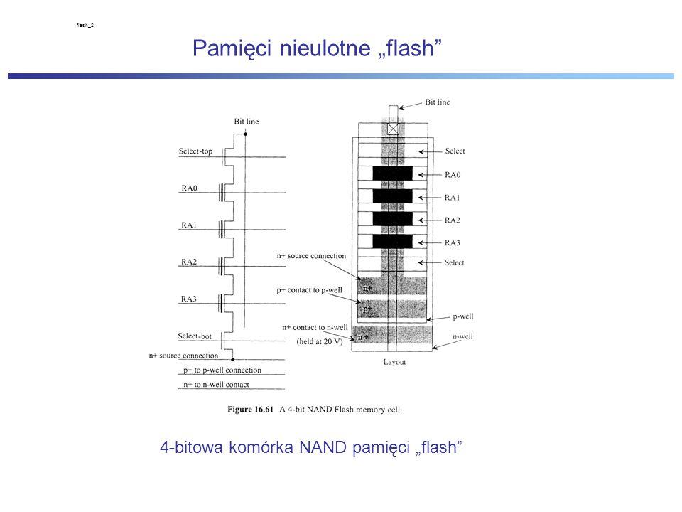 """flash_2 Pamięci nieulotne """"flash 4-bitowa komórka NAND pamięci """"flash"""
