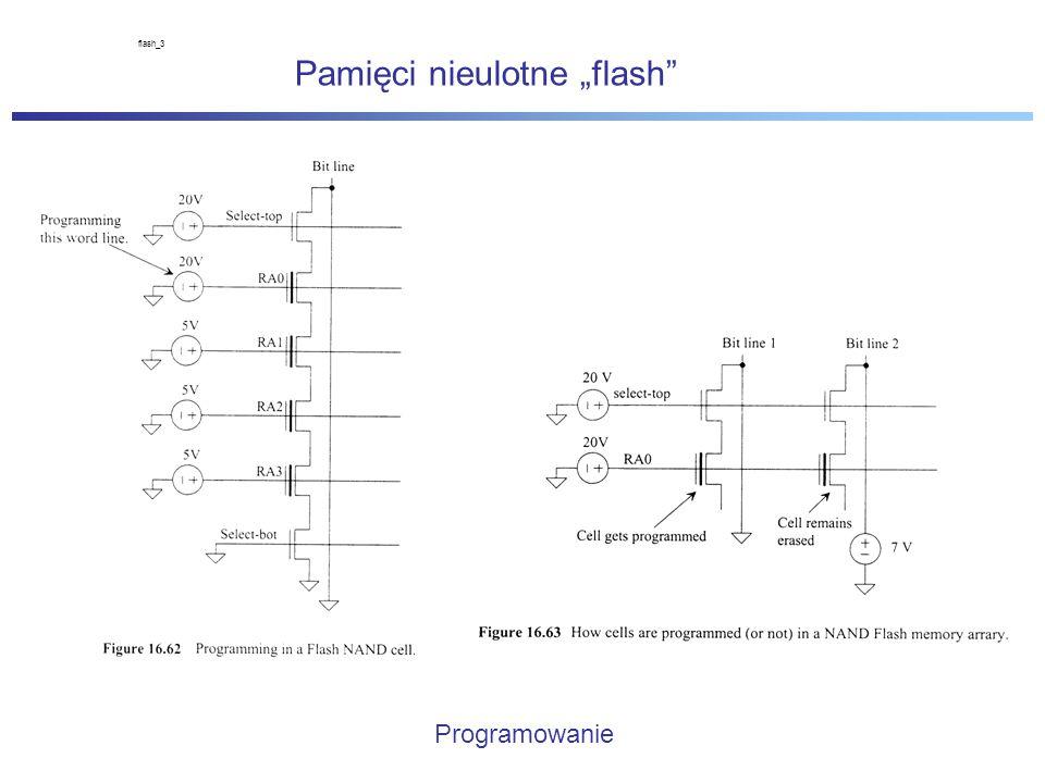 """Pamięci nieulotne """"flash flash_3 Programowanie"""