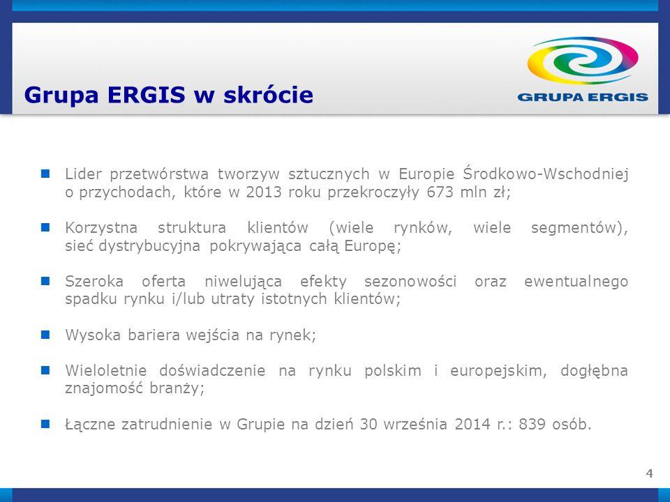 5 Grupa ERGIS po trzech kwartałach 2014