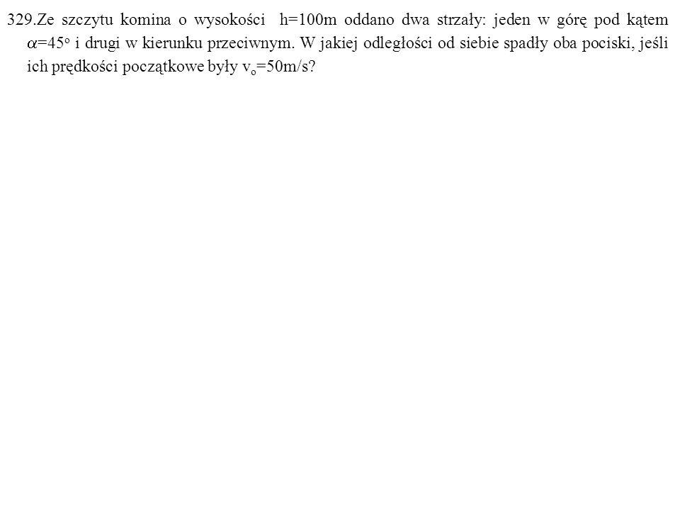Dane: h=100m,  =45 o, v o =50m/s. Szukane: s=? F: