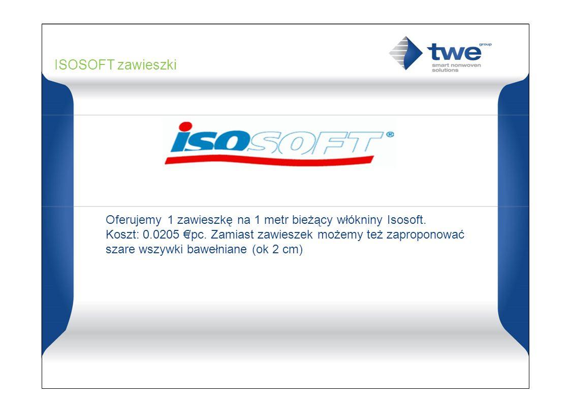 ISOSOFT zawieszki Oferujemy 1 zawieszkę na 1 metr bieżący włókniny Isosoft.