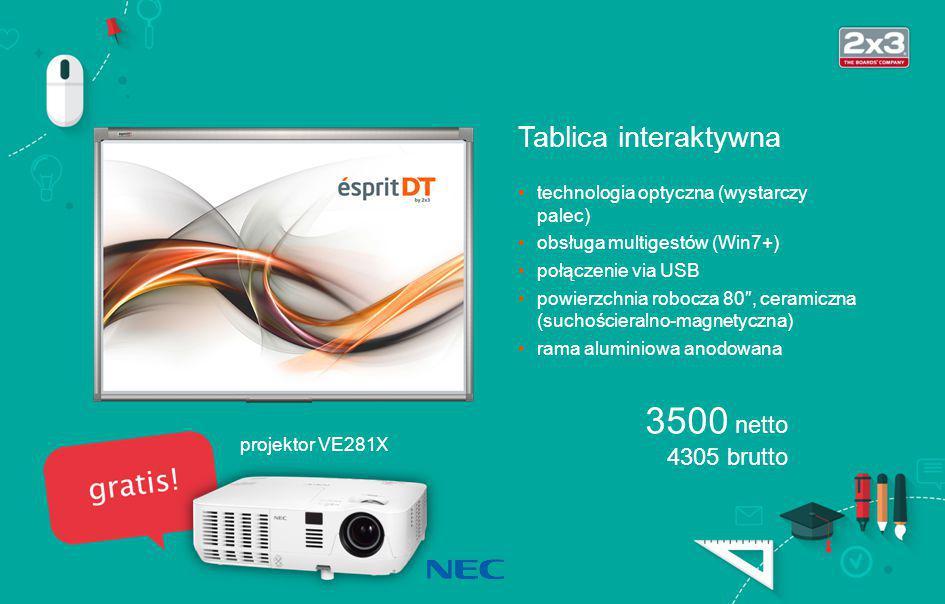Projektor VE281X Ekran projekcyjny EMPR1818R Stolik Projector Stand Zestaw projekcyjny szkolny 2050 netto 2521,50 brutto