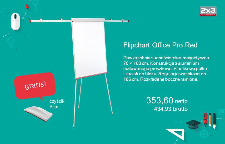 Flipchart Office Pro Red Powierzchnia suchościeralno-magnetyczna 70 × 100 cm.