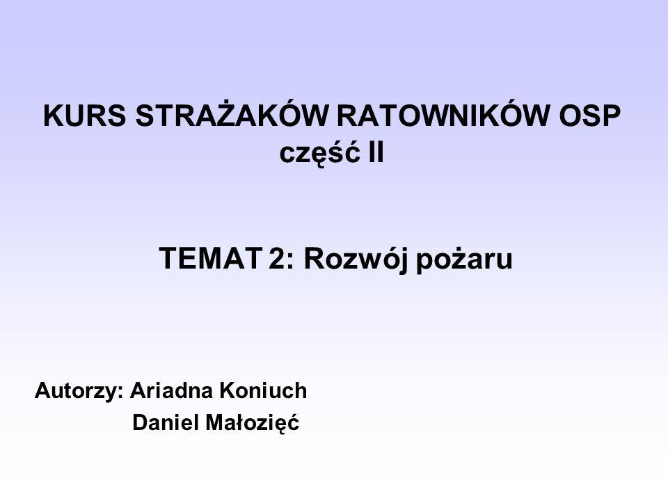 Wykorzystano: Bielicki P., Podstawy taktyki gaszenia pożarów, Kraków 1996.