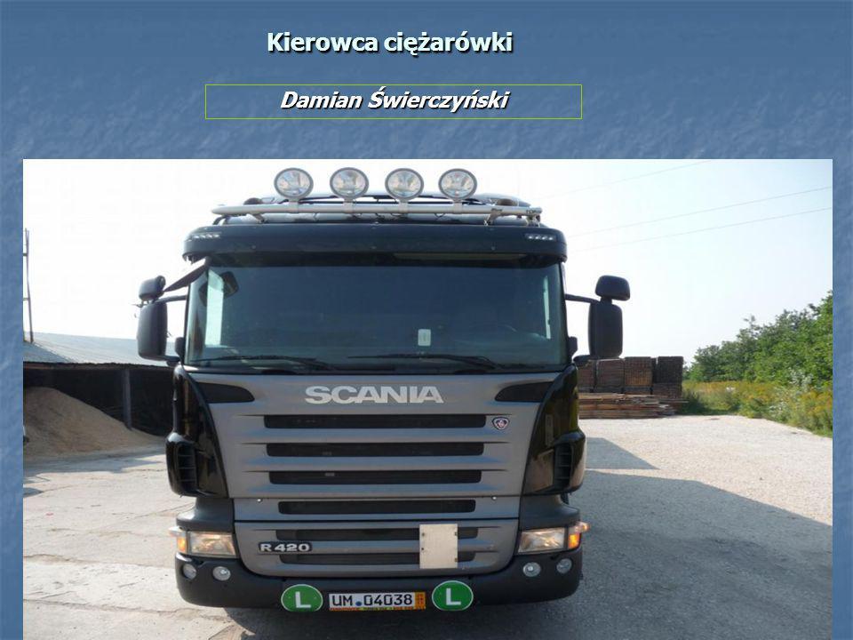 Kierowca ciężarówki Damian Świerczyński
