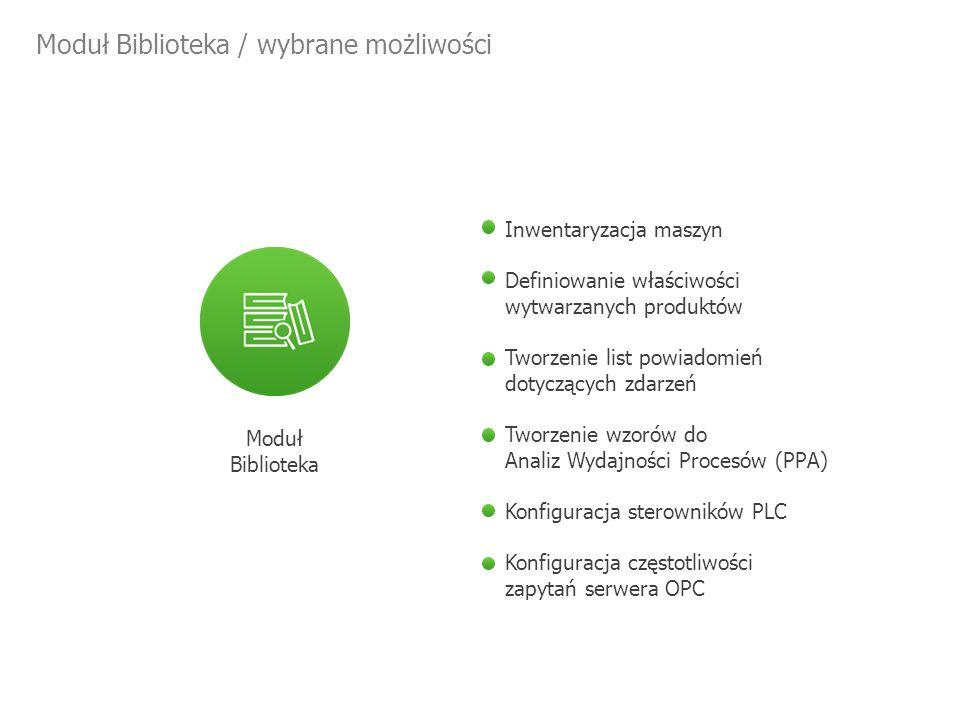 Moduł Kartoteka / wybrane możliwości Moduł Kartoteka Definiowanie właściwości produktów i komponentów Określanie kartotek produktów i komponentów