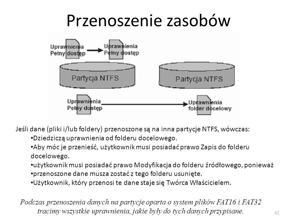 Udostępnianie plików i folderów 42 Aby dodać nowy udział należy ustawić się na wymaganej pozycji w Eksploratorze Plików i po kliknięciu prawym przyciskiem myszki wybrać z menu rozwijalnego opcję Właściwości, a następnie zakładkę Udostępnianie lub udostępnianie zaawansowane