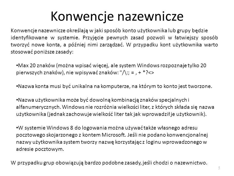 Tworzenie konta Microsoft 6 Konto Microsoft to adres e-mail i hasło używane do logowania się do systemu Windows.