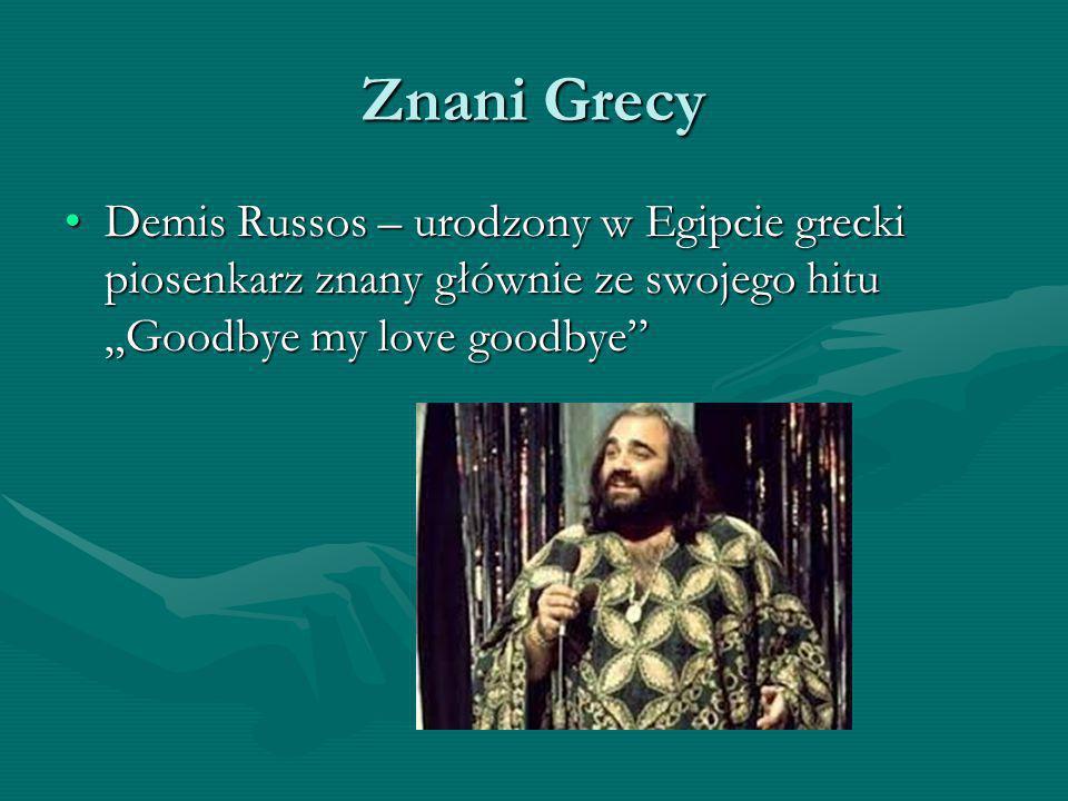 """Znani Grecy Demis Russos – urodzony w Egipcie grecki piosenkarz znany głównie ze swojego hitu """"Goodbye my love goodbye""""Demis Russos – urodzony w Egipc"""
