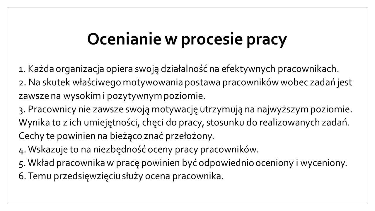 Ocenianie w procesie pracy 1.