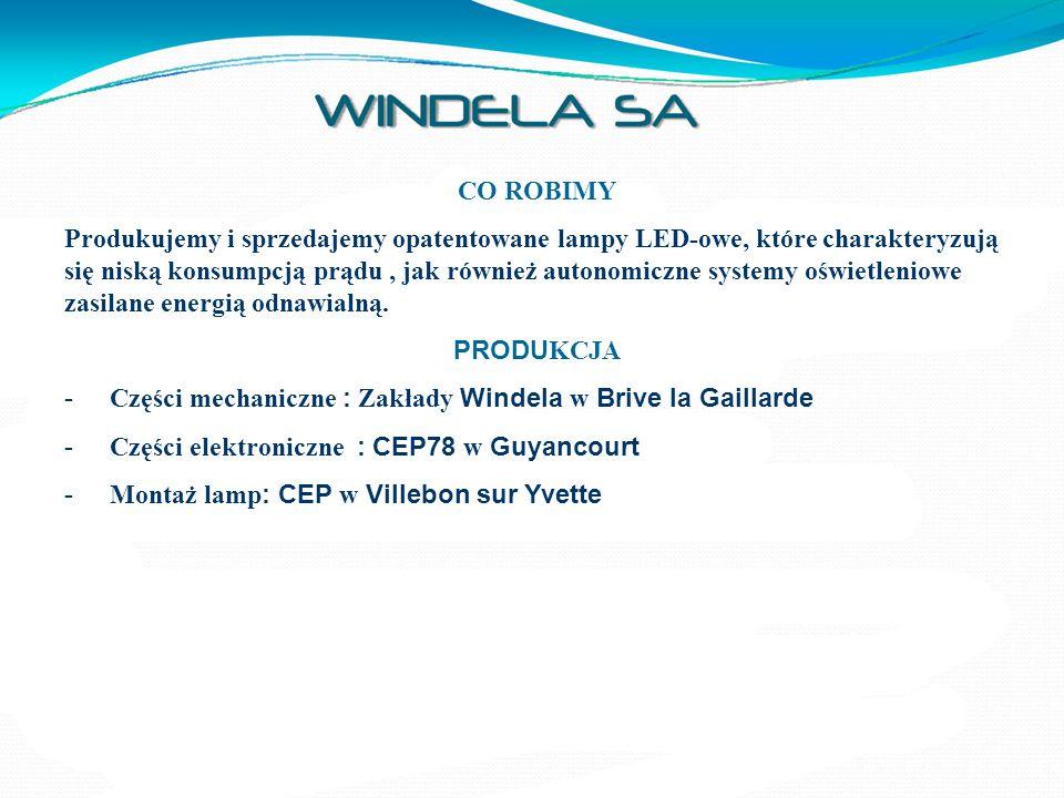 NAGRODY Nagroda za innowacyjność dla Windeluxa – latarni w pełni autonomicznej przyznana przez Stowarzyszenie Prezydentów Miast i Zarządów Samorządowych Francji – Paryż – listopad 2007