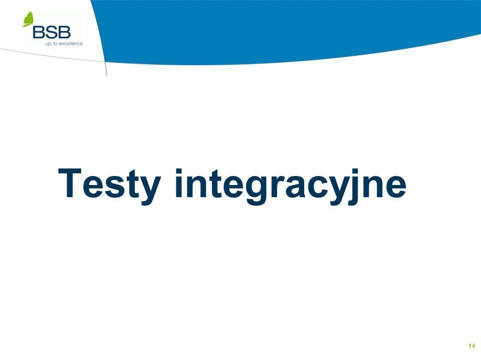 14 Testy integracyjne