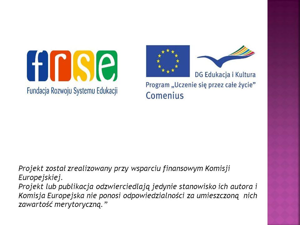 Projekt został zrealizowany przy wsparciu finansowym Komisji Europejskiej. Projekt lub publikacja odzwierciedlają jedynie stanowisko ich autora i Komi