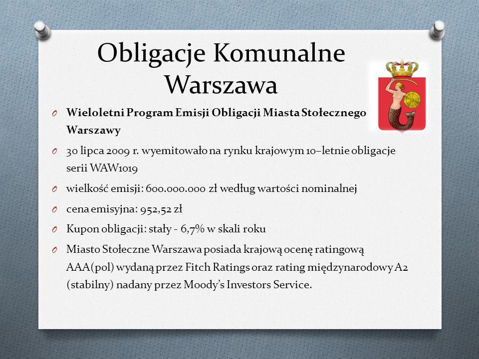 Obligacje Komunalne Warszawa O Wieloletni Program Emisji Obligacji Miasta Stołecznego Warszawy O 30 lipca 2009 r.
