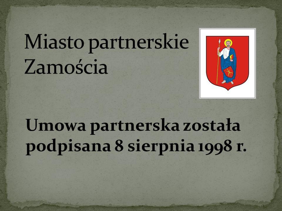 Umowa partnerska została podpisana 8 sierpnia 1998 r.