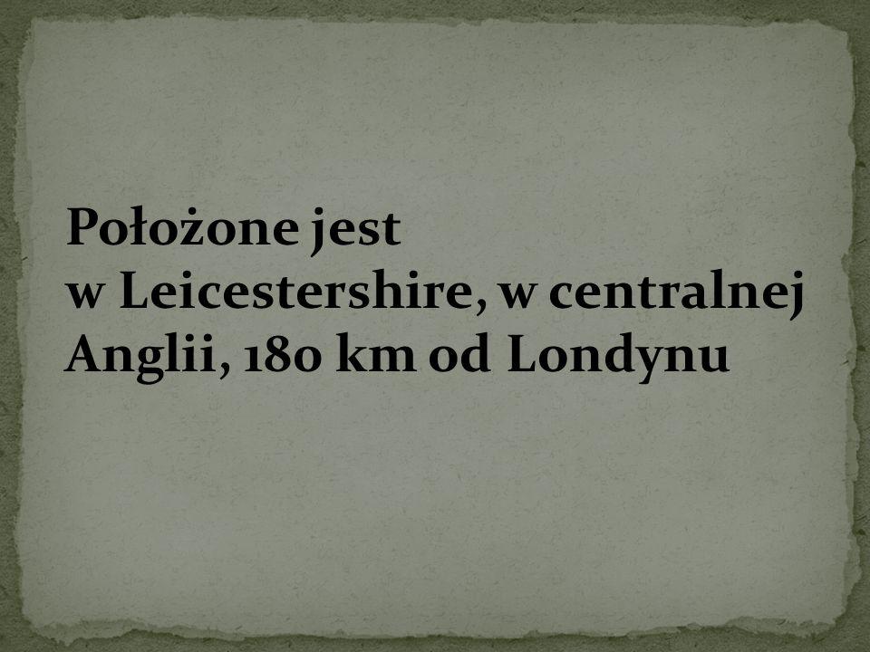 Położone jest w Leicestershire, w centralnej Anglii, 180 km od Londynu