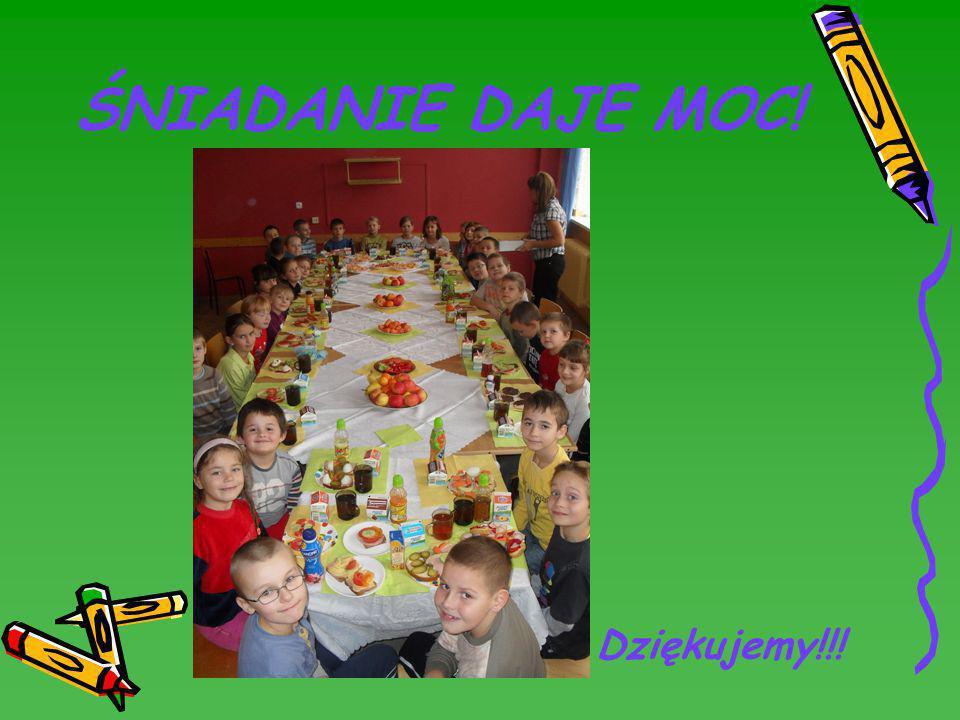 Slajdy przygotowała klasa II gimnazjum, która pozazdrościła młodszym klasom tak smacznego… Dnia Zdrowego Śniadania.