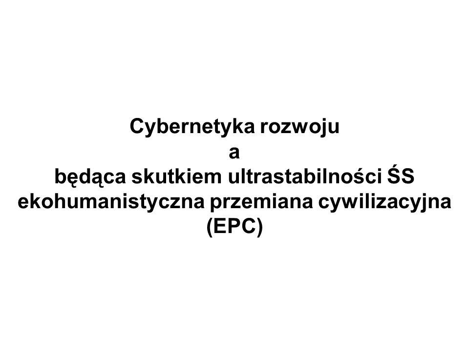 Cybernetyka rozwoju a będąca skutkiem ultrastabilności ŚS ekohumanistyczna przemiana cywilizacyjna (EPC)