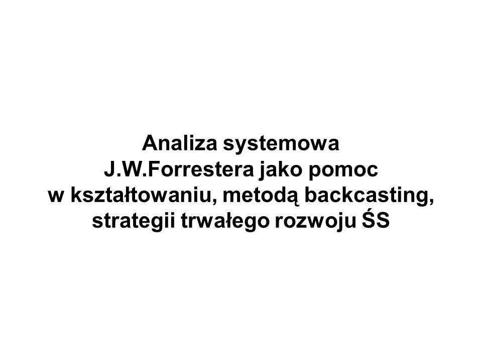 Analiza systemowa J.W.Forrestera jako pomoc w kształtowaniu, metodą backcasting, strategii trwałego rozwoju ŚS